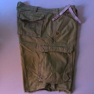 True religion light green shorts